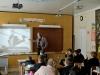 З метою попередження травматизму учнів електричним струмом до учнів Бахмутського НВК №11 завітав Леонід Айнедінов, старший майстер Бахмутського міського РЕС.