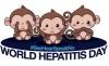 28-го липня Всесвітній день боротьби з гепатитом. На  символі Всесвітнього дня  боротьби з гепатитом зображені три мавпи, у яких закриті вуха, рот і очі. Це вказує на головну проблему боротьби з гепатитом – його ігнорування з боку людей.